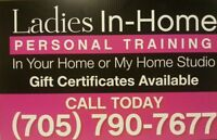Ladies One On One Personal Training In My Home Studio/Your Home