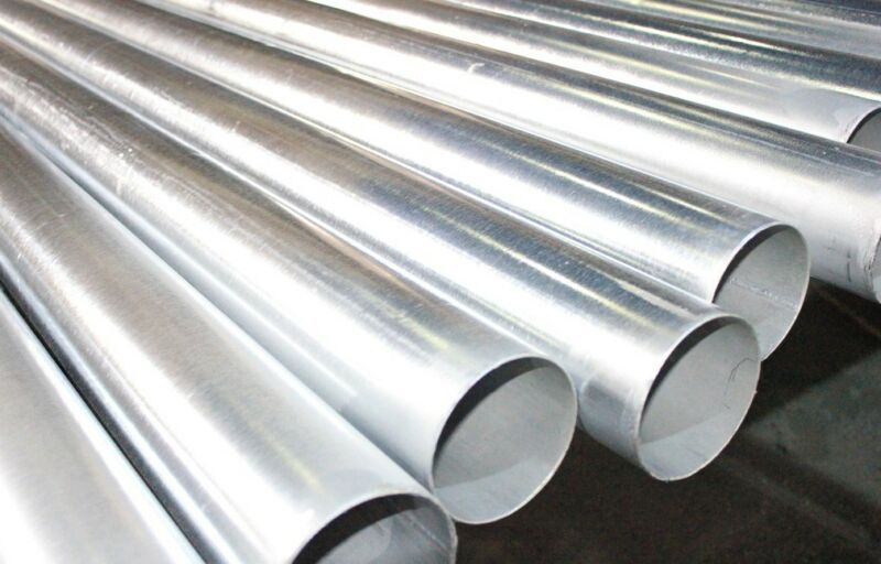"8"" Schedule 40 Galvanized Pipe - 48"" Long"