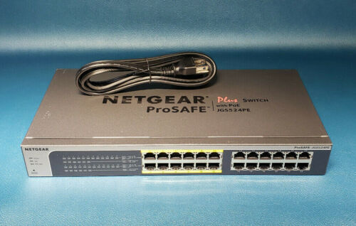NETGEAR 24-Port Gigabit Ethernet PoE Switch JGS524PE