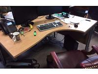office angle corner desk right and left corner desk available