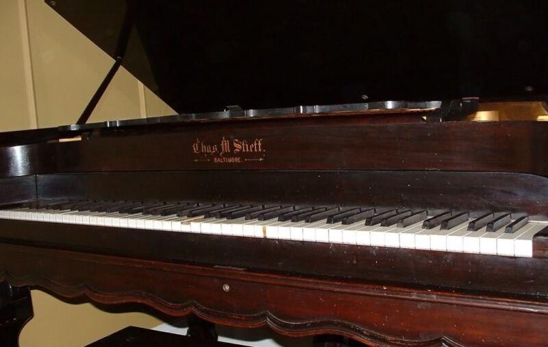 Antique Square Grand Piano Pre 1900 Chas M. Steiff Baltimore