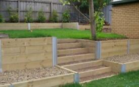 SLEEPER WALL RETAINING POST - SUPERB SYSTEM EASY TO INSTALL