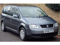 VOLKSWAGEN TOURAN S 1.9 DIESEL 2006 06REG NEWLY SERVICED LONG MOT 7 SEATER 12 MONTHS WARRANTY