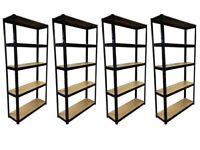 £35 HEAVY DUTY 175kg/shelf BLACK Storage shelves 180x90x30cm Metal Racking Garage delivery
