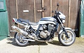 Lovely Kawasaki ZRX 1200 R Long MOT Full Akrapovic Stainless exhaust