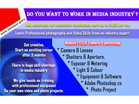 Get Trained as a Media professional and earn £250 a day. 12 Sessions £599 fees.
