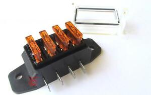 12 volt standard blade fuse holder box car 4 fuses 5 amp 12 Volt Fuse Holder 12 Volt Fuse Block