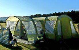 Tent Vango Langley 600 with Footprint & Vango exceed Side porch