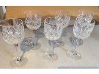 Vintage Lead Crystal Wine Glasses