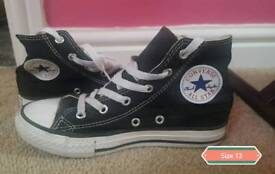 Black Converse High Tops Size 13