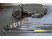 Golf Bag with 8 Clubs, £5 per item or £30 the lot