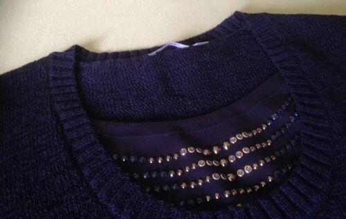 RABE Pullover blau mit dekorativen Steinchen Gr. 46 in Hessen ... b53cbc3b8a