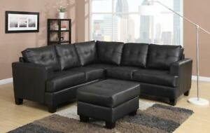 FREE DELIVERY in Vancouver! Tufted Bonded Leather Corner Sectional! NEW!