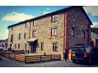 Large modern barn conversion sleeps 10 in Western Coastal Cumbria.