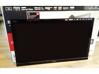 "Black Sony Bravia 46"" with Dynamic Edge LED & Motionflow"