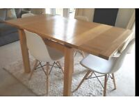 Solid Oak extending dining table