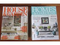 House and Garden / Home and Gardens magazines