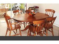 Oak Dining set, with welsh dresser and matching desk