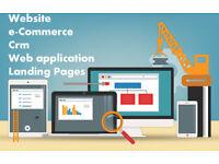 Website, Landing pages, web applications, Wordpress, Drupal, codeigniter development