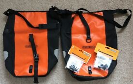 Ortleib Bike Panniers x 2 20Litre Classic Waterproof Orange and Black