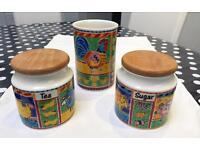 Utensil holder with tea and sugar jar - Dunoon original