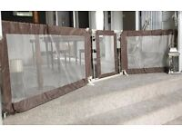 Summer Infant Super Wide Custom Fit Large Safety stair Gate - Brown
