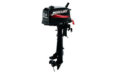 NEW MERCURY 2 Two Stroke 5 HP Boat Outboard Motor Engine Commercial Use Only
