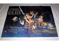 Ultra Rare - Original 1983 - Star Wars - Return Of The Jedi ROTJ - UK Quad Cinema Poster