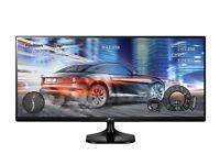 Dual monitor setup - 2 LG 25UM58 25 inch Ultrawide IPS Monitors (full HD, HDMI, 5ms) £199