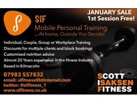 SIF Mobile Personal Training. At Home, In the gym, Outside.....You Decide!