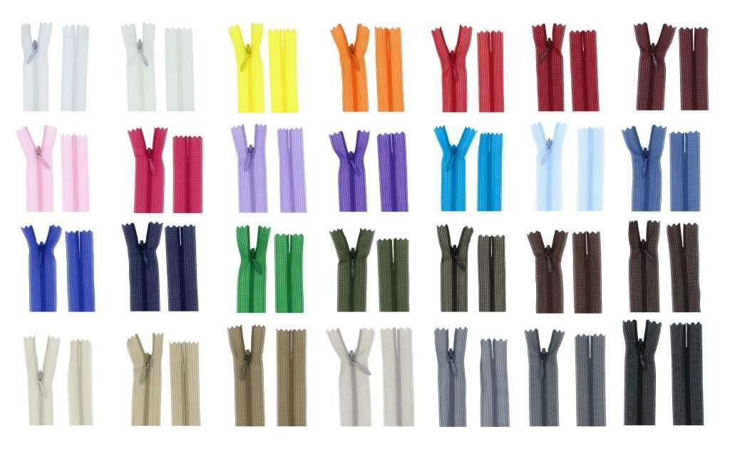 Reißverschluss PV Spiral Verdeckt Nahtverdeckte Reissverschlüsse Nylon 3mm
