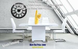 Weekend Special! Contemporary, 5 Pc Dining Set Blow out at Splendid Furnishings