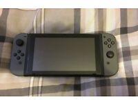 Grey Nintendo switch