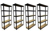£40 HEAVY DUTY 175kg/shelf BLACK Storage shelves 180x90x30cm Metal Racking Garage delivery