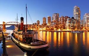 """Beautiful 28""""x42"""" High Definition """"Vancouver Harbour"""" Picture."""