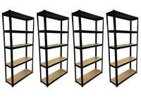 £40 HEAVY DUTY 175kg/shelf BLACK Storage shelves 180x90x30cm Metal Racking Garage delivery