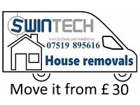 Man and van Swindon Removals services from £10 rated 5* CRBd Man and van or two Man and van Swindon