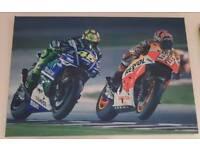 MotoGP canvas wall art - Rossi & Marquez