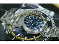 ORIS automatic 200 mtr Dive watch, Blue with Box