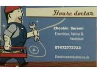 Electrician, carpenter, plumber and handyman