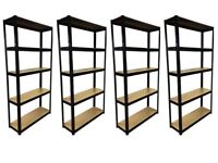 £35 HEAVY DUTY 175kg/shelf BLACK Storage shelves 180x90x30cm Metal Racking Garage delivery