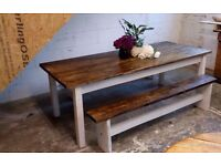 reclaimed wood table set