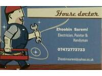 Electrician, carpenter, plumber, painter and handyman