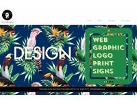 Web design, print and signs, free SEO , graphic designer (WIX) etc etc