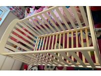 Superb baby cot for sale from smoke and pet free home