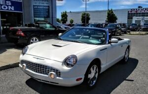 2002 FORD THUNDERBIRD CABRIOLET 2 PORTES,CUIR ROUGE,