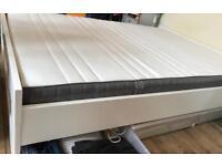 IKEA Standard Double Bed Frame + IKEA Standard Double Mattress