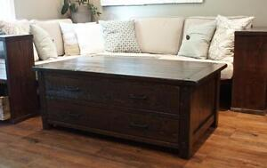 Salvaged Wood Storage Coffee Table $1045 and More! By LIKEN Woodworks