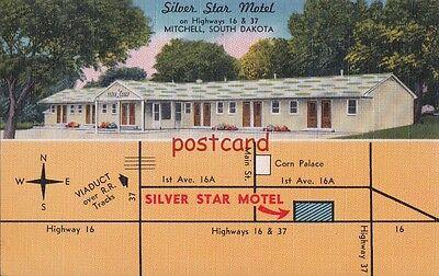 1956 SILVER STAR MOTEL Mitchell SD, Mr & Mrs Herb Koehn hosts, near Corn Palace