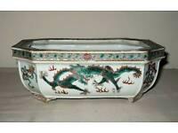 Famille verte dragon bowl